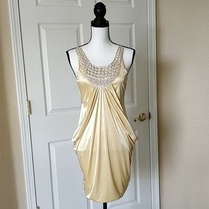 As U Wish pearl embellished party dress sz S